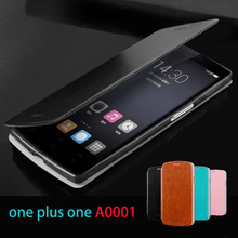 Flip Leather For OnePlus One (A0001) Case Hight Quality Cell Phone Case For One Plus One A0001 Stand Case Cover Free Shipping