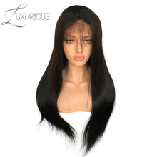 Luxurious Straight Lace Front Human Hair Wigs For Black Women Brazilian Remy Hair 8-26inch Pre Plucked Hairline With Baby Hair(China)