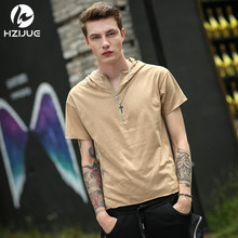 HZIJUE Newest Men Clothing 2017 Summer Hoodies High Street Fashion Original Design Hip Hop Clothes Personality Male Brand Tops(China)