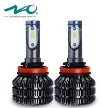 NAO H11 led Bulb Car LED Headlights H8 H9 Lamp Fanless Design 3 Years Warranty 6000K White Bulbs 50W 6000 Lumens Set V5(China)
