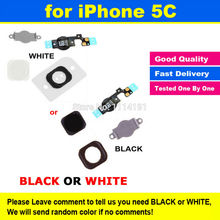 New High Quality For iPhone 5C Home Button Sensor Ribbon Flex Cable Assembly Complete Spare Repair Parts Replacement Black White