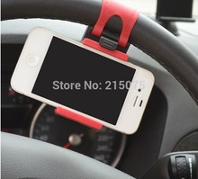 Free shipping High Quality Universal Silicon Car Steering Wheel Phone Socket Holder 55-85mm Retractable Cellphone GPS styling