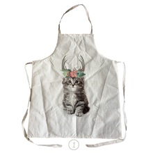 Unique Work Apron for Men Women cute cat and dog Print Personalized Chef Aprons Sleeveless 78*65cm Restaurant Kitchen Bib Aprons(China)