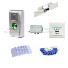Waterproof Fingerprint Access Control System Kit Time Attendance +Electric Strike Lock+Power Supply+Switch(China)