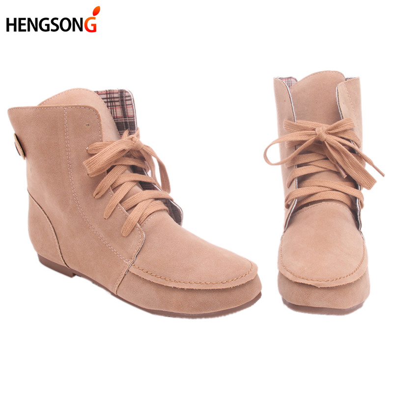 Autumn Winter 2017 Fashion Boots Snow Boots for Women Girls Martin Boots Suede Leather Boots Couples Shoes Cotton DP875884<br><br>Aliexpress