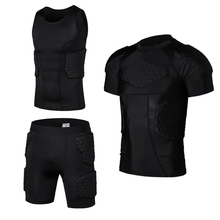 Yel New Honeycomb Pads Soccer Rugby Basketball Jersey Armor Vest Shorts T-shirt Anti Crash Sportwear Sport Safety Men's clothing
