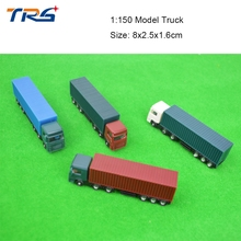 10pcs scale model vehicle 1:150 miniature plastic model container truck scale truck