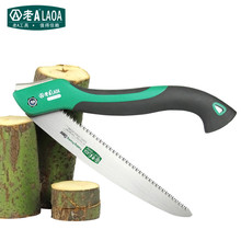 LAOA Free shipping 250mm length SK5 alloy steel blade folding saws with rubber handle for pruning and gardening