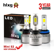 Buy HLXG Mini S2 New Upgrade H7 LED H4 H11 9005 HB3 9006 HB4 COB Car Headlight 70W 8000LM/Set Auto Headlamp Bulb One 6000K for $19.63 in AliExpress store