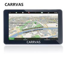 CARRVAS 7 inch Car GPS navigation DDR 256 MB 8G ROM 800 MHz WinCE 6.0 Truck GPS Navigator Free maps for Russia/Spain/Europe/USA