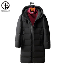 Asesmay High Quality White Duck Down Jacket Winter Men Down Parka Brand Goose Long Coat Hooded Feather Men's Warm Winter Jackets(China)