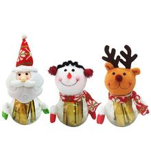 1pc Christmas Santa Claus Elk Snowman Toy Doll Christmas Decoration for Home Tree Ornaments Kids Christmas Gift #15(China)