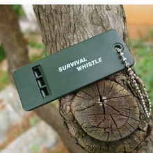 by dhl or ems 1000 pcs new Survival Whistle First Aid Kits Outdoor Emergency Signal Rescue Camping Hiking sport practical(China)