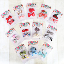 Korea Children Set Hair Accessories Luxury Princess Hair Grips Cat Flower Crown Baby Hair Clips Cartoon Hair pins Bows(China)