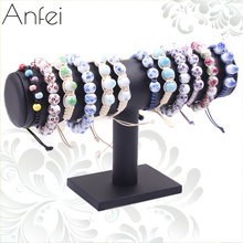 Leather bracelet holder Jewelry Display leather bracelet holder watch frame headband jewelry storage rack accessories A64-4(China)