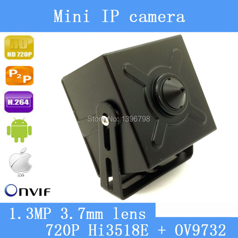 1.3MP 3.7mm lens mini pinhole ip camera 720P home security system cctv surveillance HD Built-in Microphone onvif video p2p cam<br>