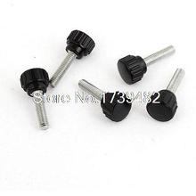 Mechanical Equipment 5mm Male Thread Screw On Type Round Clamping Knob 5 Pcs