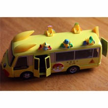 HugoBoy | Toy model cars 1 48 Car Model  Die Casting Cartoon Children Car Model School Bus Child Toys have  voice  light