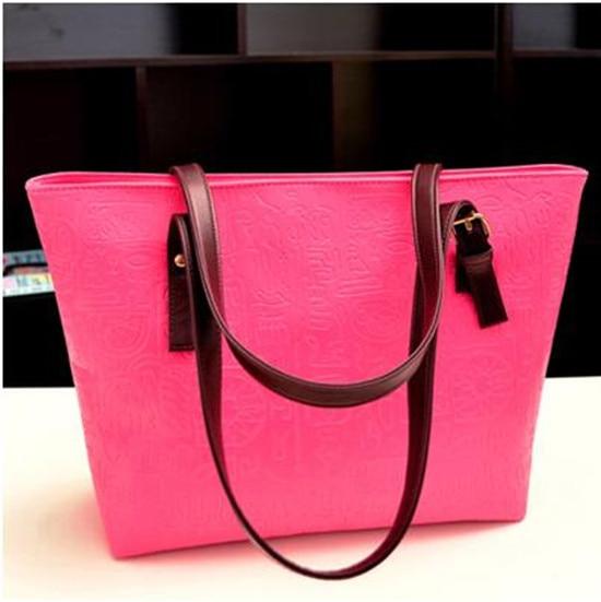 Women Bag Unique Vintage Bag Geometric Oracle Words Tote Handbag Shoulder PU Leather Large Square Bag Hot Selling<br><br>Aliexpress