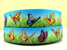 (5yds per roll) 10Y4929 free shipping 1 '' printed ribbon Grosgrain ribbon welcome oem your own designs(China)