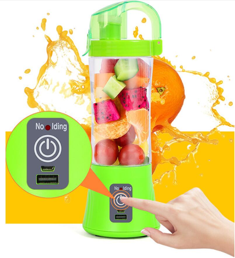 Mixer-Bottle Blender Juicer Orange Electric Rechargeable 380ml USB Cup Automatic title=