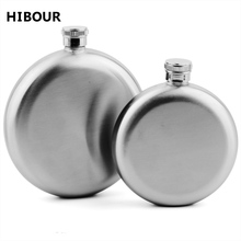 5/8oz Stainless Steel Round Whiskey Flask Portable Alcohol Hip Flasks Wine Bottle Russian Liquor Pot For Creative Birthday Gift