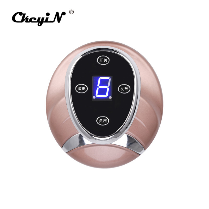 Guasha Suction Scraping Massager Electric Cupping Stimulate Acupoints Detoxification Massage Tool Magnetic Wave Physiotherapy 0 9
