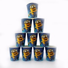 Hot 10pcs/lot Minions Cup Birthday party Decoration Theme Party Supplies  Festival For Kids Girls Boys events minions party cups