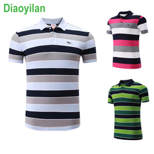 New Women/Men Golf table tennis Bowling Trainning Sportswear outdoor breathable badminton shirt POLO cotton stripe T Shirts