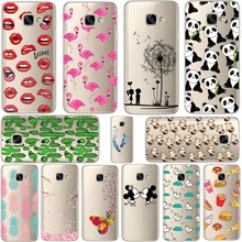 Mickey&Minnie kiss Lips pineapple unicorn Flamingo cactus panda Clear soft silicone cases cover for SAMSUNG Galaxy A3 A5 A7 2017