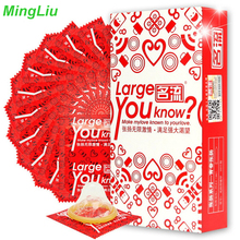Buy Mingliu 10PC Large Size Condoms Giant Cock Penis 55mm Condone Safe Penis Sleeve Natural Latex Contraception Tool Men gay