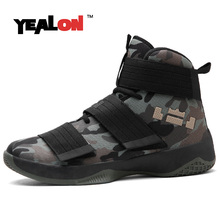 YEALON 2017 Men Basketball Shoes Ankle Boots PU Breathable Male Sport Sneakers Women Basketball Shoes Homme Krasovki Men EU36-45(China)