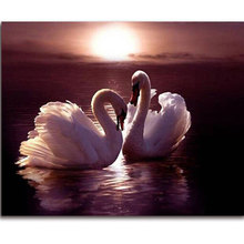Swan Diamond Mosaic Animal 5D Diy Diamond Painting Crystal Picture Of The Diamond Sequins Embroidery Pattern Painting-Rhinestone
