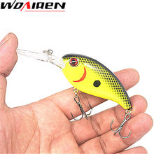 1Pcs Crankbait Fishing Wobblers 14g 10.5cm Hard bait Bass Spinner Fishing Lures 7 Colors Pesca fishing tackle YR-198
