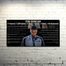 San Antonio Spurs Best player Art Silk Poster 20x40 inch Basketball Spotrs Picture Tim Duncan Tony Parker For Wall Decor 019(China)