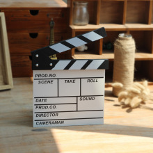 English Mini Director Video Scene Clapperboard TV Movie Clapper Board Film Slate Cut Prop