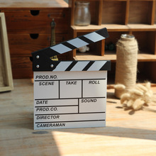 English Mini Director Video Scene Clapperboard TV Movie Clapper Board Film Slate Cut Prop(China)