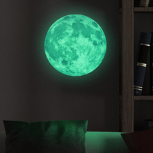 Moon Glow In The Dark Moonlight Luminous Art Mural Wall Sticker for Kids Room Home Decoration Accessories Home Decor Living Room