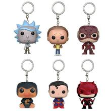 Marvel DC Movie Super Heroes Superman Daredevil The Flash Pocket Keychain Toy Fantastic Beasts Niffler Rick and Morty Vinyl Toys