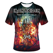 iron maiden shirt the book of souls 3d t shirt men top tee t-shirt male camiseta rock n roll music band 2017 skull tshirt