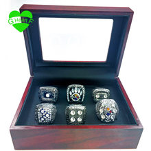 Free Shipping Pittsburgh Steeler rings set 1974 1975 1978 1979 2005 2008 super bowl replica championship ring(China)
