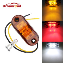 4pc 12V/24V Universal 2 LED Diode Red/Amber White Surface Mount LED Side Fender Marker Light LED Light Bar
