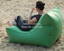 COVER ONLY , no filler - LARGE Space and Wide waterproof outdoor bean bag chair with high back support, backing portable beanbag(China)