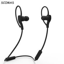 SCOMAS Sports wirelss headphones bluetooth 4.1 earphone 3D stereo bluetooth headset with Microphone for mobile phone Telephones(China)