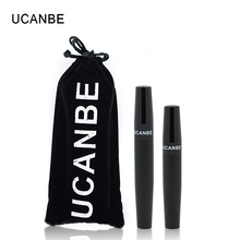 UCANBE Brand 2pcs 3D Fiber Lashes Eye Mascara Waterproof Volume Express Black Eyelashes Grower Double Marscara Makeup Set Feact(China)