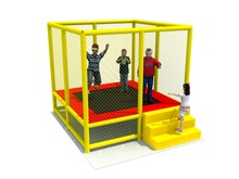 kids playground mini trampoline bed for school,kindergarten amusement jumping trampoline park,children jumping bed
