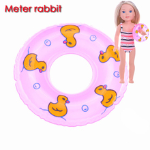 1PC Cute Mini Barbie Bathing Swim pool Mini Lifebelt Ring Laps PVC Buoy For ddung Barbie Doll Toys Kids children girl Gift