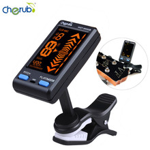 Cherub WST-650GB Professional Guitar Bass Tuner Auto Clip-on/Mic Pickup Mode Support Pitch/Flat Adjustment Tunning LCD Display(China)