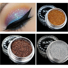 NANI Brand Professional Shimmer Eye Shadow Waterproof Pigment Metallic Red Silver Cheap Makeup Glitter Powder Eyeshadow Palette