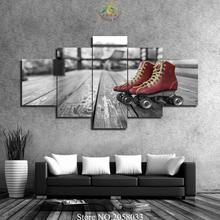 3-4-5 Pieces Skating Boots Pictures Modern Painted Canvas Paintings Home Decor Wall Pictures Print On Canvas(China)